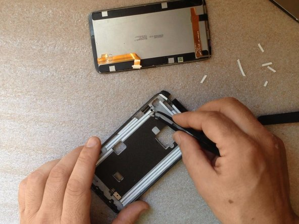 Gently assemble the screen to the frame.