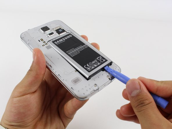 Remove the battery from the phone.