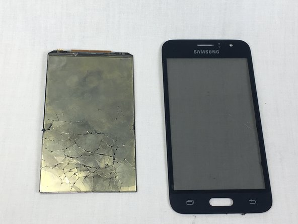 The LCD is very fragile, do not apply excessive force when prying the glass panel