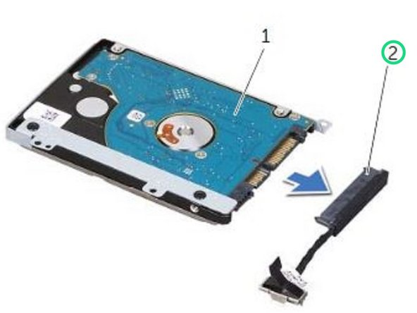 Connect the hard-drive cable interposer to the hard drive.