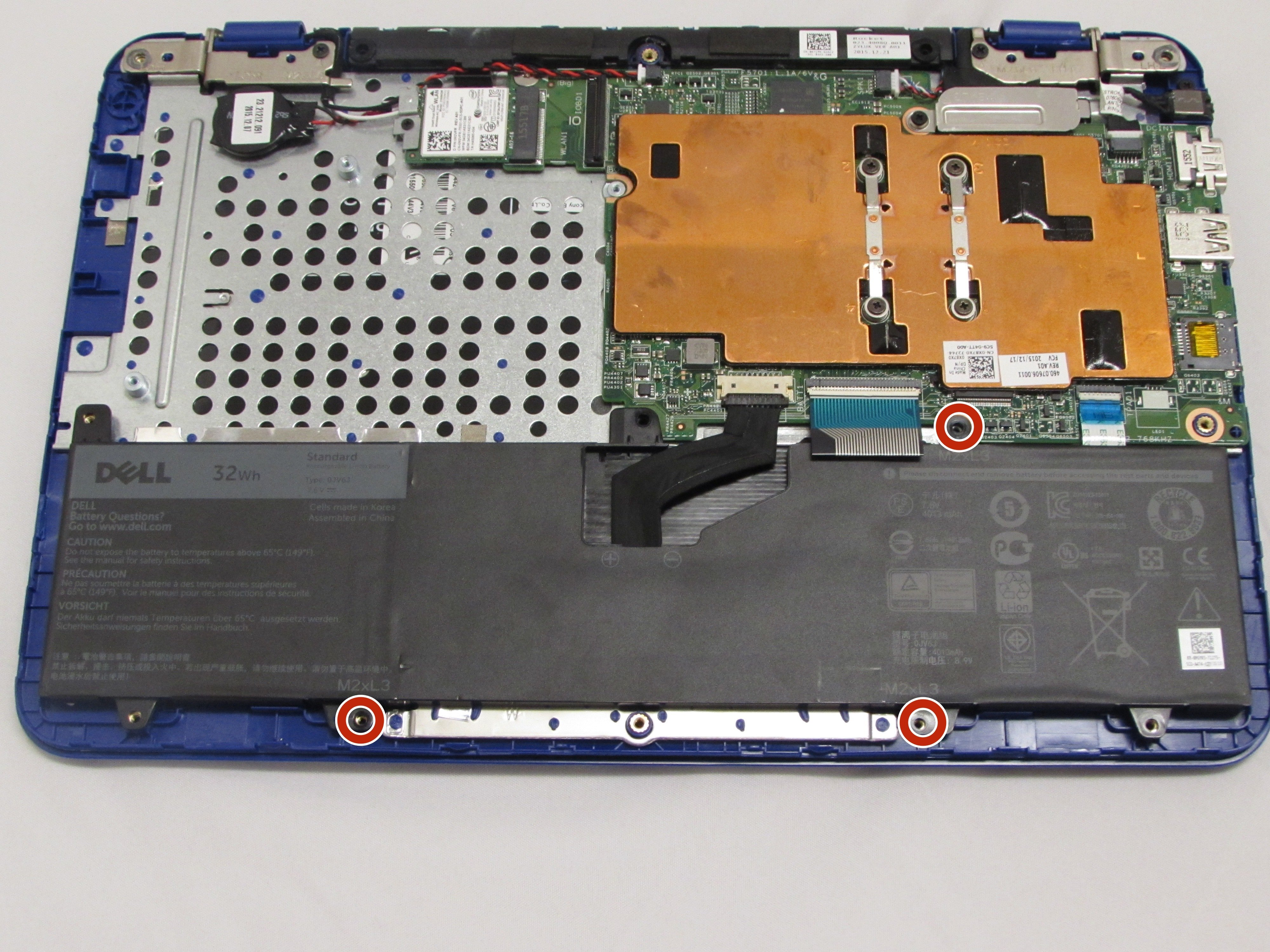 Dell Inspiron 11-3162 Battery Replacement - iFixit Repair Guide