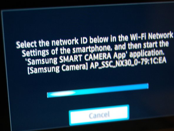 "Image 2/2: The Wifi network name may have a similar name to: ""AP_SSC_NX30_0-79:1C:EA."""