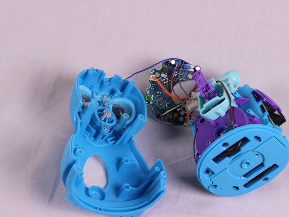 Separate the body casing from the core and circuit board.
