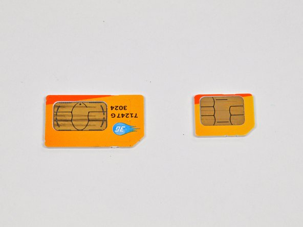 Image 3/3: You could cut up a full-size SIM card and turn it into a Micro-SIM. The contacts are fully compatible.