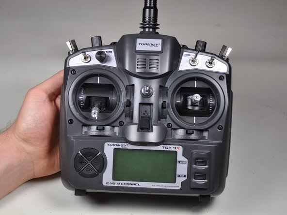Close up the case and enjoy your Mode 2 transmitter.