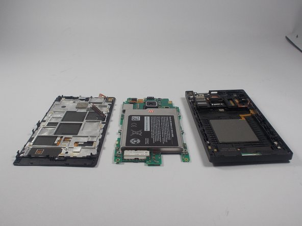 Image 2/2: You have now removed the motherboard from the display assembly and the back cover.