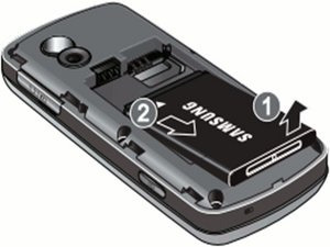 Disassembling Samsung Gravity SGH-T459  Battery