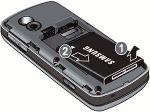 Démontage de la batterie du Samsung Gravity SGH-T459