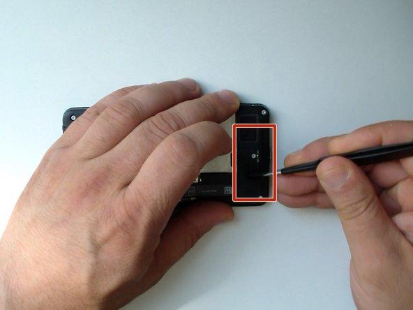 Image 3/3: Remove the black tape near to the loudspeaker.