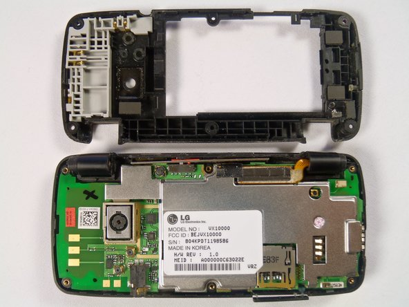 Once the case has been separated you should be able to see the circuitry inside the phone