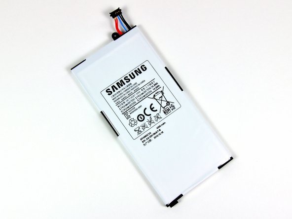 Image 1/3: The 3.7V Li-Ion battery inside the Galaxy Tab lists a capacity of 14.8 Watt-hours or 4000 mAh.