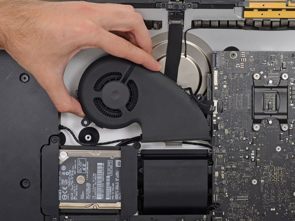 Remove the fan from the iMac.