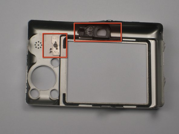 When you reassemble the camera, make sure the switch on the casing (pictured left) matches the position of the switch on the camera internals.