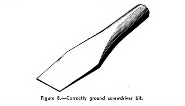 flathead driver bit illustration