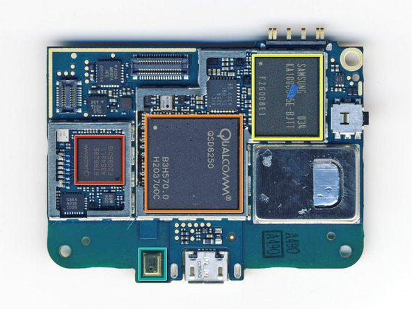 Image 1/1: [http://www.datasheetpro.com/268132_download_RTR6285_datasheet.html|Qualcomm RTR6285] multi-band UMTS/EGPRS transceiver with integrated GPS