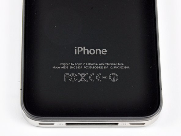 Image 1/1: An iPhone first: Interestingly enough, the storage capacity is not etched on the outer case of the iPhone 4.
