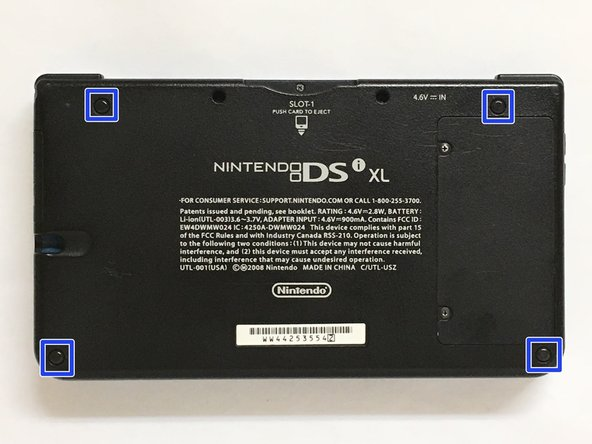 Remove the rubber blocking the screws on the Dsi Xl with a push pin don't hesitate about it.