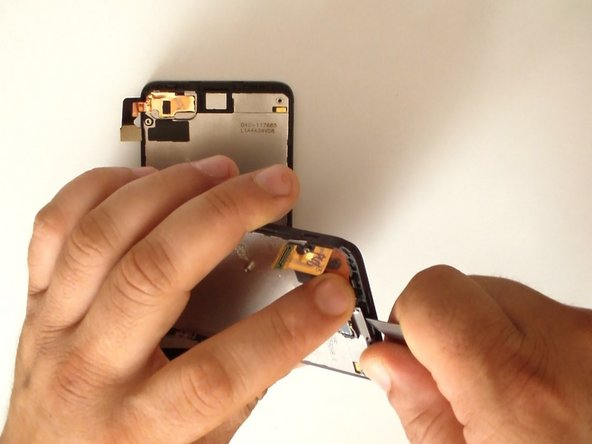 Put the earpiece on the new display assembly and start with reassembling.