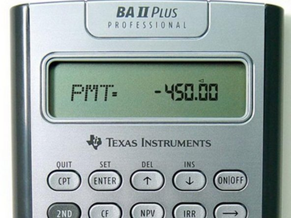 The BA II Plus Professional calculator.