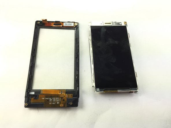Image 3/3: The right piece is the touch screen sensor that you are looking to replace.