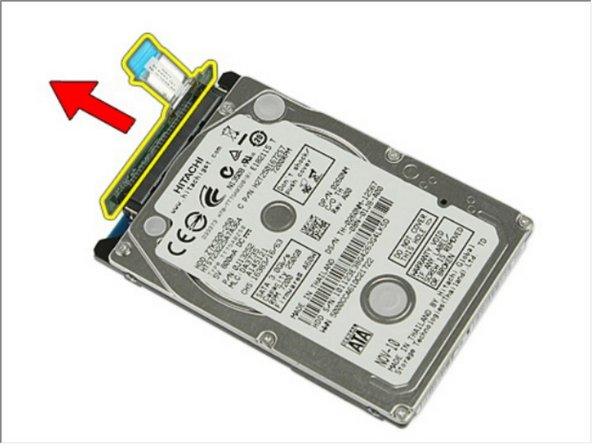 Remove the hard drive board from the hard drive.