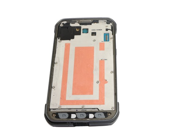 Safely remove the front panel assembly from phone.
