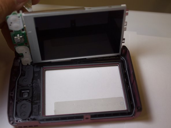 Image 1/1: This metal plate is the LCD component needing to be replaced