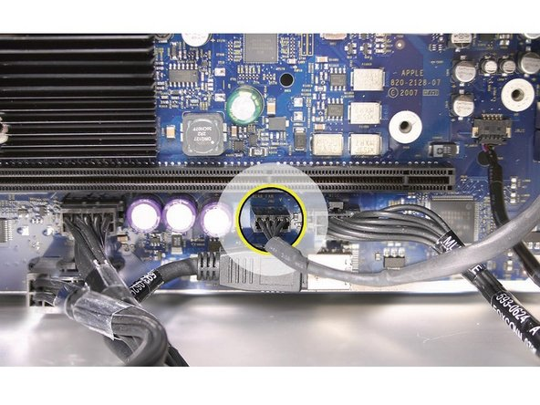Disconnect the rear fan cable from the logic board.