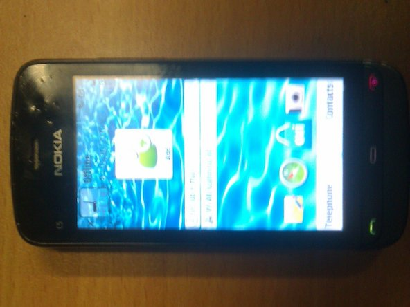 This is the Nokia C5-03 smartphone.