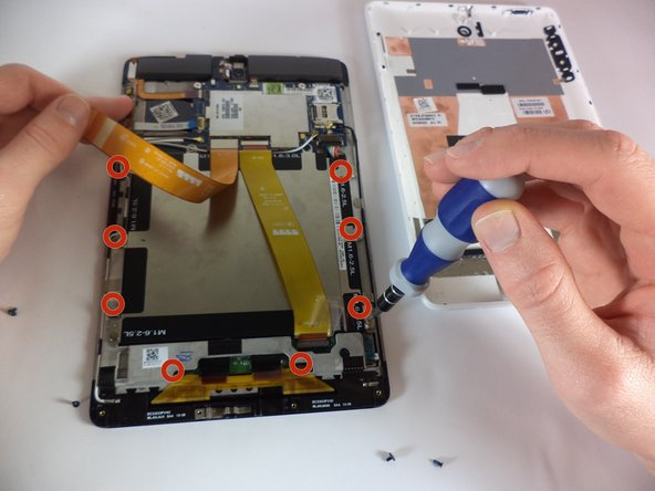 Remove all screws from the sides of the battery