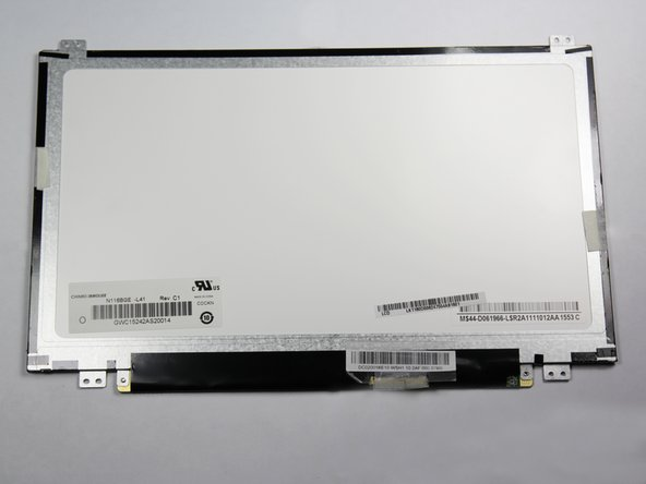 Image 3/3: Remove any remaining tape holding the screen to the laptop.