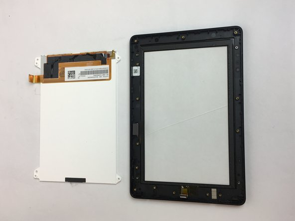 The LCD display screen may now be removed and replaced.
