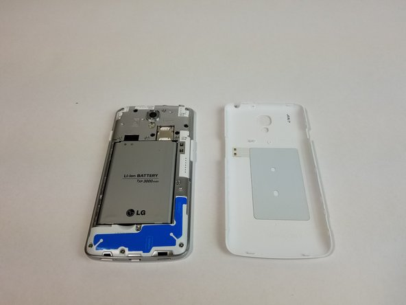 Remove back casing.