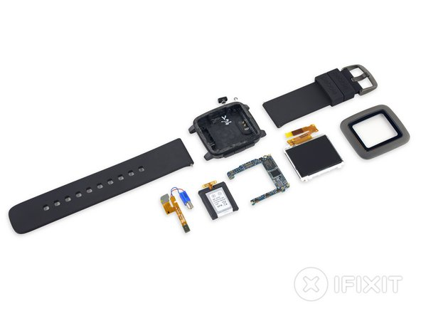 Image 1/2: The watch band is an industry standard 22 mm band with a quick release mechanism, meaning replacement bands will be easy to source and install.