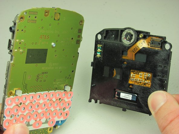 Image 2/2: The screen is now apart from the phone