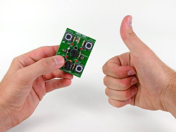 Image 3/3: Congratulations, you have completed the Level 1 Through-Hole Soldering Kit!