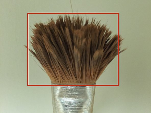 Repairing paint brush bristles