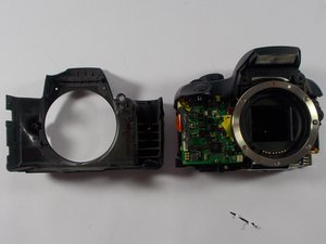 Disassembling Canon EOS Rebel XS Front Cover