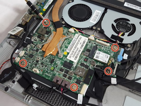 With the Phillips #1 head, remove the M2-6mm screws seating the motherboard into the case.