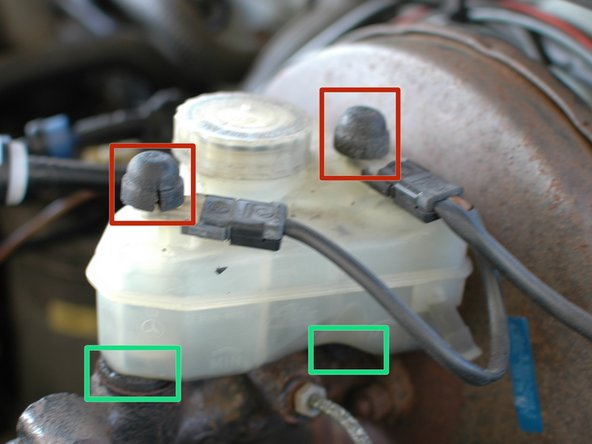 There are a total of four rubber seals that help to keep brake fluid inside of your reservoir during use. When the rubber ages, it can crack, and harden leading to the potential for leaks.