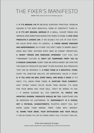 Sugru Fixer's Manifesto
