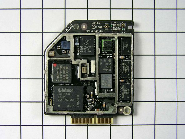 Infineon 337S3754  PMB 8878 X-Gold baseband IC 5Y06115. This part had the Infineon logo in the pre-production unit, but Apple has white-labeled it to obscure the manufacturer. This is the exact same baseband processor as the iPhone 3GS.