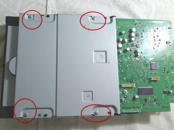 Under the dvd block remove screws