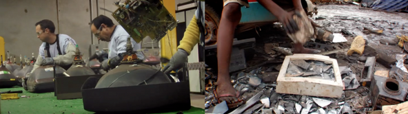 Images of e-waste in the Terra Blight documentary