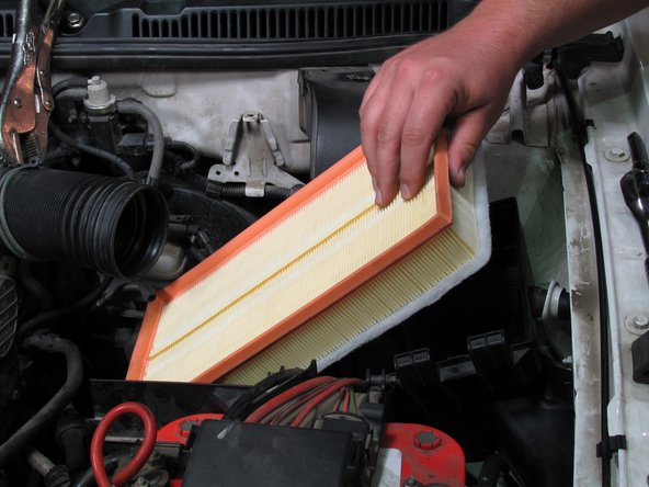 Remove the air filter.