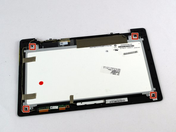 Using a Phillips #1 Screwdriver Unscrew the four 2 mm screws holding the screen onto the screen cover.