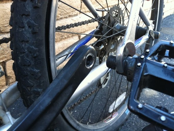 Once the old pedal is off, you may replace it with a new pedal.