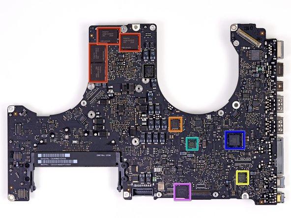 Image 1/1: Back side of the logic board: