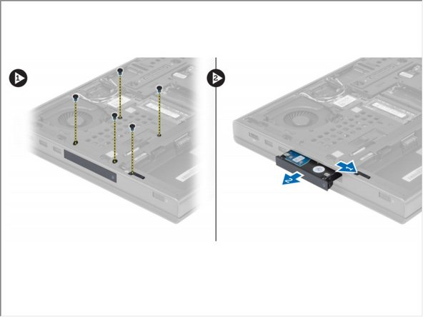 Remove the screws that secure the hard drive to the computer. Slide the hard -drive latch to the unlock position and pull out the hard drive from the computer.
