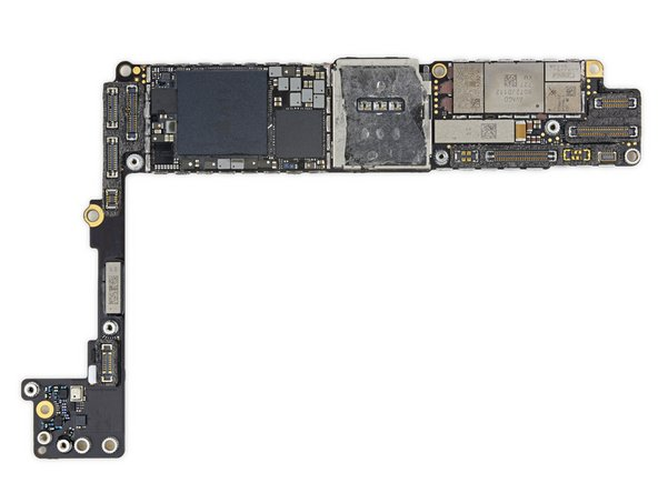 Apple 339S00439 A11 Bionic SoC layered over Samsung 3 GB LPDDR4 RAM